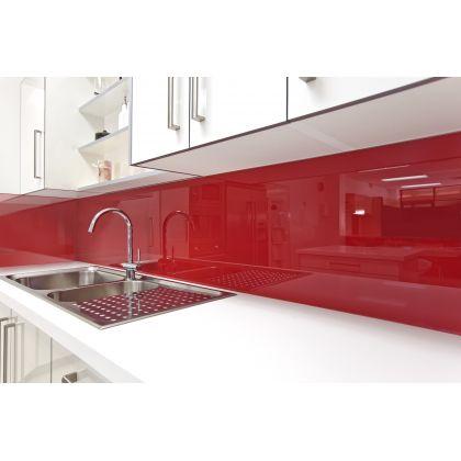 Panou antistropire AluSplash gama Elegance Juicy Red / Space Silver , 564.64.021, 2050x750 mm, 4 mm grosime, suprafata lucioasa