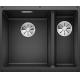 Chiuveta cu montare sub blat BLANCO SUBLINE 340/160-U InFino, silgranit, antracit, 60 cm, 523548