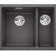 Chiuveta cu montare sub blat BLANCO SUBLINE 340/160-U InFino, silgranit, gri piatra, 60 cm, 523549