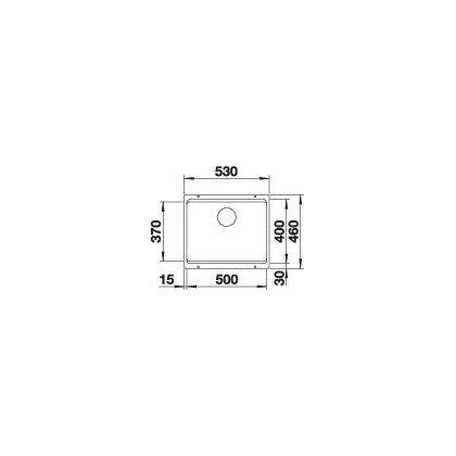 Chiuveta cu montare sub blat BLANCO ETAGON 500-U InFino, silgranit, gri piatra, 50 cm, 522228