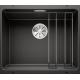 Chiuveta cu montare sub blat BLANCO ETAGON 500-U InFino, silgranit, neagra, 50 cm, 525887