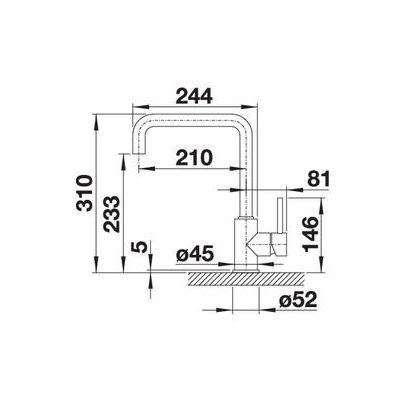 Baterie de bucatarie BLANCO MILI, silgranit, antracit, 523103