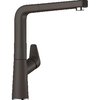 Baterie de bucatarie BLANCO AVONA-S cu furtun extractibil, cafea, 521284