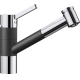 Baterie de bucatarie BLANCO TIVO-S, silgranit cu furtun extractibil, antracit/crom, 517610
