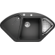 Chiuveta bucatarie pe colt BLANCO DELTA II, silgranit, 45 cm, antracit, 523656
