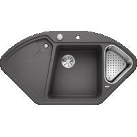 Chiuveta bucatarie pe colt BLANCO DELTA II, silgranit, 45 cm, gri piatra, 523657