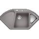 Chiuveta bucatarie pe colt BLANCO DELTA II, silgranit, 45 cm, alumetalic, 523658
