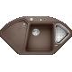 Chiuveta bucatarie pe colt BLANCO DELTA II, silgranit, 45 cm, cafea, 523669