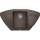 Chiuveta bucatarie pe colt BLANCO ZIA 9 E, silgranit, cafea, 40 cm, 515074