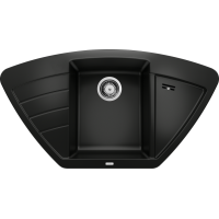 Chiuveta bucatarie pe colt BLANCO ZIA 9 E, silgranit, negru, 40 cm, 526031