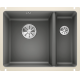 Chiuveta cu montare sub blat BLANCO SUBLINE 350/150-U, bazalt, ceramica, 60 cm, 523746
