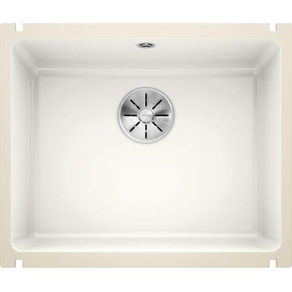 Chiuveta cu montare sub blat BLANCO SUBLINE 500-U, alb cristal, ceramica, 60 cm, 523733