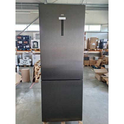 RESIGILAT !!! Combina frigorifica AEG RCB646E3MB, 461 l, clasa E, frost free, inox negru, TwinTech, MultiFlow