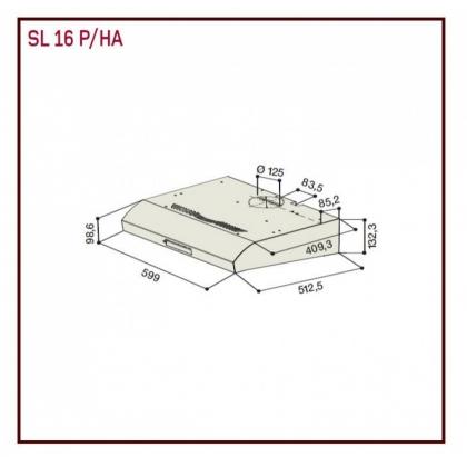 Hota incorporabila Hotpoint Ariston SL 16 P IX, 60 cm