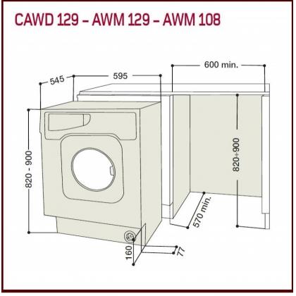 Masina de spalat rufe incorporabila Hotpoint Ariston AWM 129