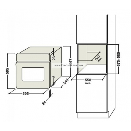 Cuptor incorporabil pe gaz Hotpoint Ariston FH G IX, 60 cm latime