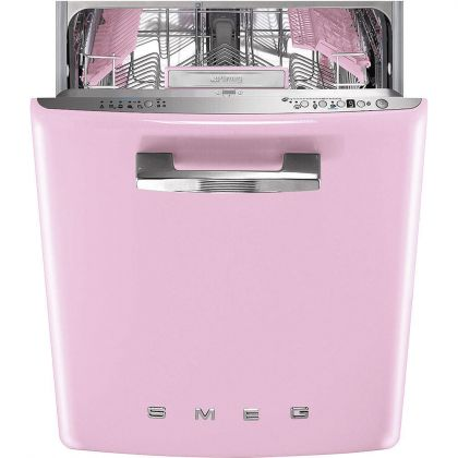 Masina de spalat vase retro incorporabila Smeg ST2FABPK, 60 cm, clasa A+++, roz
