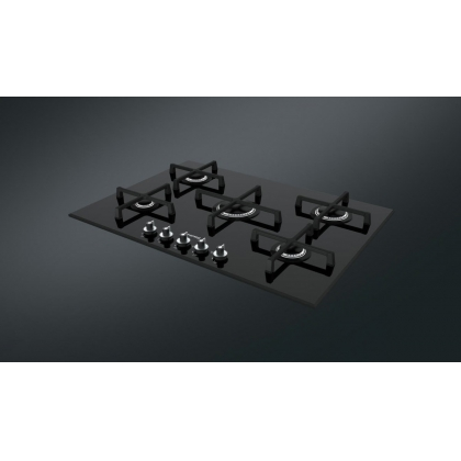 Plita incorporabila vitroceramica pe gaz Smeg Linea PV175N-1, 72 cm, negru