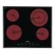 Plita incorporabila vitroceramica Smeg SE2641TC2, 60 cm