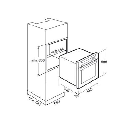 Cuptor incorporabil electric Teka HPL 870, inox antiamprenta, Touch Control, pirolitic