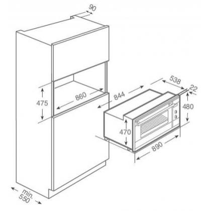 Cuptor incorporabil electric Teka HL 940, 90 cm latime, inox, HydroClean