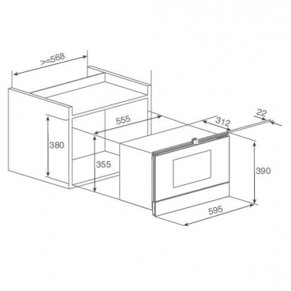 Cuptor incorporabil cu microunde Teka MWL 22 EGL, inox