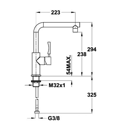Baterie de bucatarie Teka INX 914, inox