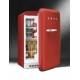 Minibar retro pentru bauturi Smeg FAB10HRR, rosu