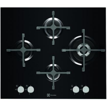 Plita incorporabila vitroceramica pe gaz Electrolux EGT6343LOK, 60 cm latime, gratare de fonta