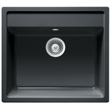 Chiuveta compozit Smeg VC57N, 57 cm latime, Cristadur negru