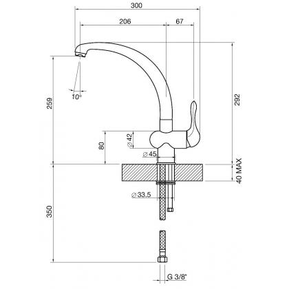 Baterie de bucatarie Smeg MF8RA2, cupru