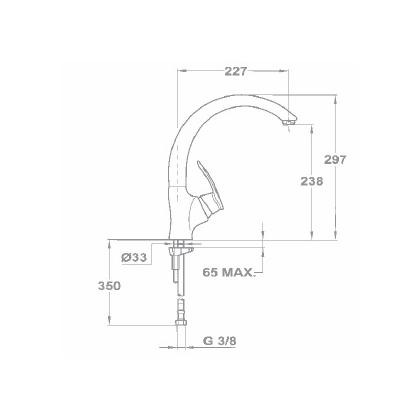 Baterie de bucatarie Teka MC 10 PLUS 915, granit, schwarzmetallic