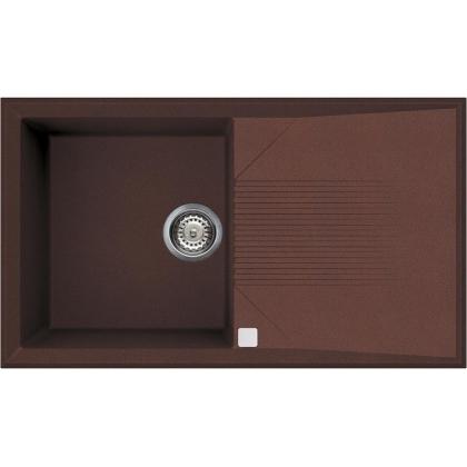 Chiuveta de bucatarie Smeg LSEQ861RA, cupru, 86 cm latime