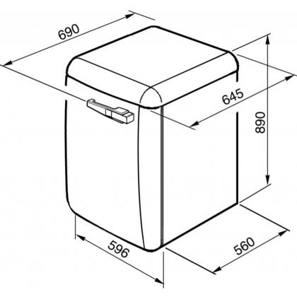 Masina de spalat rufe Smeg LBB14RO, retro, roz, 7 kg spalare, clasa A+