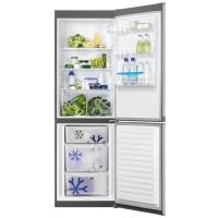 Combina frigorifica ventilata Zanussi ZRB36101XA, 60 cm latime, inox, clasa A+