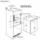 Frigider incorporabil Electrolux ERN1400AOW, ventilat, clasa A+