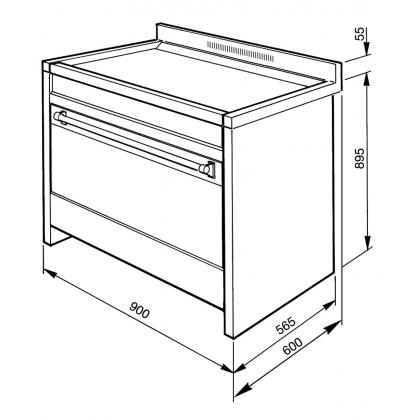 Masina de gatit electrica Smeg Opera CS19ID-7, 90 cm latime, inox, plita inductie