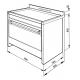 Masina de gatit electrica Smeg Opera CS19IDA-7, 90 cm latime, antracit mat, plita inductie