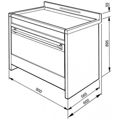 Masina de gatit electrica Smeg Opera A1C-7, 90 cm latime, inox, plita vitroceramica