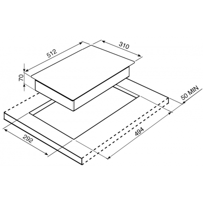 Plita incorporabila Teppanyaki Smeg Linea PGF30T-1, 30 cm latime