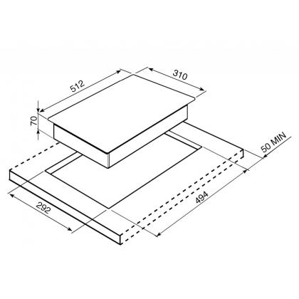 Plita incorporabila inductie Smeg Classic PGF32I-1, 30 cm latime