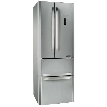 Combina frigorifica cu 4 usi Full No Frost Hotpoint Ariston E4DY AA X C, inox, clasa A+, 70 cm latime, display LCD