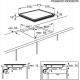 Plita incorporabila vitroceramica Electrolux EHF6240XXK, 60 cm latime, rama inox