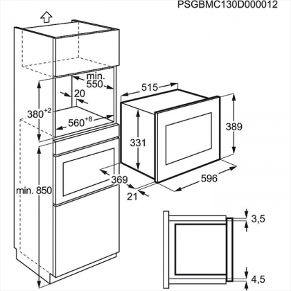 Cuptor incorporabil cu microunde Electrolux EMT25207OX, inox