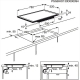 Plita incorporabila cu inductie pe toata suprafata AEG HK894400FG, 78 cm, display TFT, Booster
