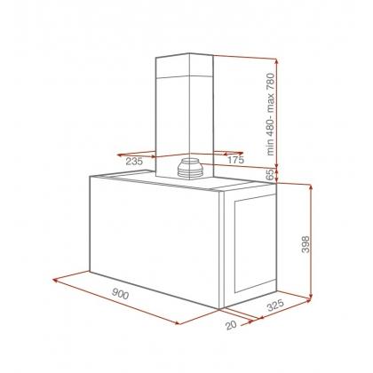Hota incorporabila Teka DHI 90, inox, 90 cm
