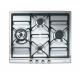 Plita incorporabila pe gaz Smeg Classic SER60SGH3, 60 cm, inox, wok, fonta