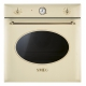 Cuptor incorporabil electric Smeg Colonial SF855PO, 60 cm, crem, retro, Vapor Clean