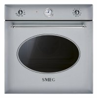 Cuptor incorporabil electric Smeg Colonial SF855X, 60 cm, inox, retro, Vapor Clean