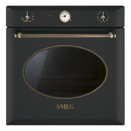 Cuptor incorporabil electric Smeg Colonial SF855AO, 60 cm, antracit, retro, Vapor Clean